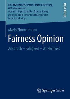Fairness Opinion (eBook, PDF) - Zimmermann, Mario