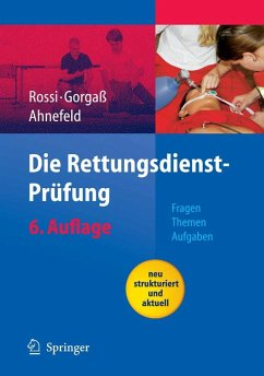 Die Rettungsdienst-Prüfung (eBook, PDF) - Rossi, R.; Ahnefeld, F. W.; Gorgaß, B.