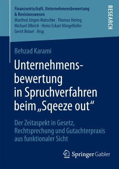 """Unternehmensbewertung in Spruchverfahren beim """"Squeeze out"""