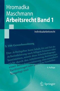 Arbeitsrecht Band 1 (eBook, PDF) - Hromadka, Wolfgang; Maschmann, Frank