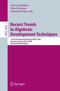 Recent Trends in Algebraic Development Techniques (eBook, PDF)