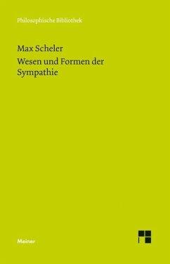 Wesen und Formen der Sympathie - Scheler, Max