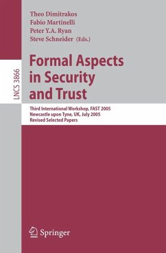 Formal Aspects in Security and Trust (eBook, PDF)