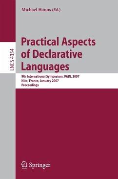 Practical Aspects of Declarative Languages (eBook, PDF)
