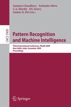 Pattern Recognition and Machine Intelligence (eBook, PDF)