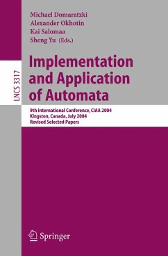 Implementation and Application of Automata (eBook, PDF)