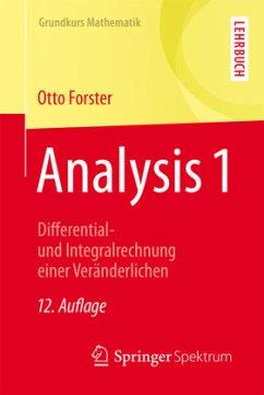 Analysis 1 - Forster, Otto