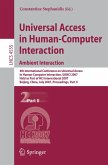 Universal Access in Human-Computer Interaction. Ambient Interaction (eBook, PDF)