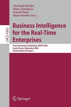 Business Intelligence for the Real-Time Enterprises (eBook, PDF)