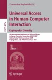 Universal Acess in Human Computer Interaction. Coping with Diversity (eBook, PDF)