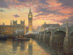 Schmidt 59471 - Thomas Kinkade, Abendstimmung, London, 1000 Teile, Puzzle