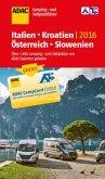 ADAC Camping- und Stellplatzführer 2016: Italien, Kroatien, Österreich und Slowenien