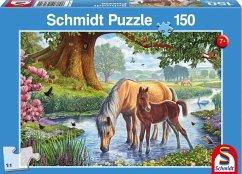 Pferde am Bach (Kinderpuzzle)