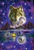Schmidt 58233 - Wolf im Mondlicht, 1000 Teile, Puzzle