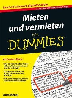 Mieten und Vermieten für Dummies (eBook, ePUB) - Weber, Jutta