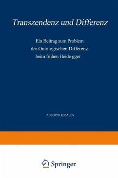 Transzendenz und Differenz (eBook, PDF) - Rosales, Alb.