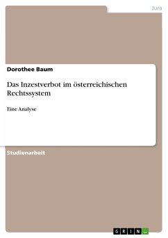 Das Inzestverbot im österreichischen Rechtssystem (eBook, PDF)