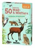 Moses MOS09739 - Expedition Natur: 50 heimische Wald & Wildtiere, Lernkarten