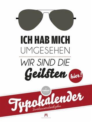 FormArt - Typokalender 2017 - buecher.de
