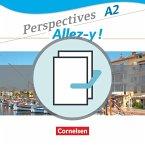 Perspectives - Allez-y ! A2 - Kurs- und Übungsbuch und Sprachtraining im Paket