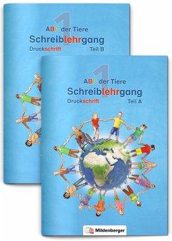 ABC der Tiere 1 - Schreiblehrgang Druckschrift, Teil A und B. Neubearbeitung