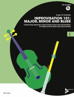 Improvisation 101: Major, Minor and Blues, C-Instrumente, m. Audio-CD - Yasinitsky, Gregory W.