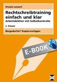 Rechtschreibtraining einfach und klar - 2. Klasse (eBook, PDF)