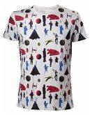 Star Wars T-Shirt -M- All Over Print, weiss