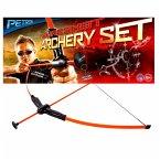 Petron SURESHOT Indoor Outdoor Archery Set Kinder Bogen mit 3 Pfeilen, orange