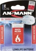 1 Ansmann Lithium 9V-Block speziell für Rauchmelder