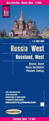 Reise Know-How Landkarte Russland West (1:2.000.000); West Russia / Russie, ouest / Rusia occidental
