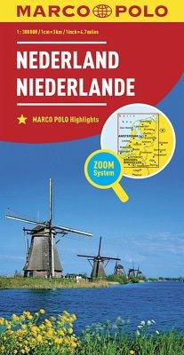MARCO POLO Karte Länderkarte Niederlande 1:300 000; Nederland / Netherland / Pays-Bas