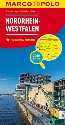 MARCO POLO Karte Nordrhein-Westfalen; North Rhine-Westphalia / Rhénanie-du-Nord-Westphalie