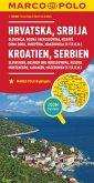 MARCO POLO Karte Länderkarte Kroatien, Serbien 1:800 000; Hrvatska, Srbija