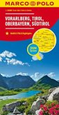 MARCO POLO Karte Vorarlberg, Tirol, Oberbayern, Südtirol; Vorarlberg, Tyrol, Upper Bavaria, South Tyrol / Vorarlberg, T