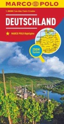Marco Polo Karte Länderkarte Deutschland 1:800 000; Germany/ Allemagne