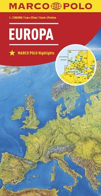 Mairdumont Marco Polo Karte Länderkarte Europa, physisch 1:2 500 000; Europe