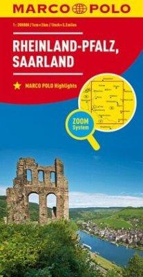 MARCO POLO Karte Rheinland-Pfalz, Saarland; Rhineland-Palatinate, Saarland / Rhénanie-Palatinat, Sarre