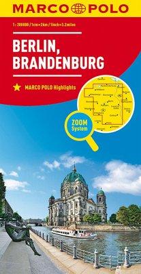 MARCO POLO Karte Berlin, Brandenburg; Berlin, B...