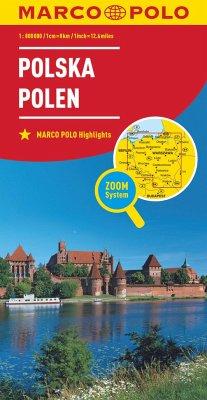 Marco Polo Karte Länderkarte Polen 1:800 000; Polska / Poland / Pologne