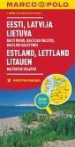 MARCO POLO Karte Länderkarte Estland, Lettland, Litauen, Baltische Staaten 1: 800 000; Estonie, Lettonie, Lituanie, Pays
