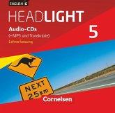 9. Schuljahr, Audio-CDs (+MP3 und Transkripte), Lehrerfassung / English G Headlight, Allgemeine Ausgabe Bd.5