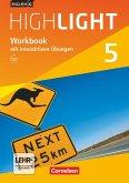 English G Highlight Band 5: 9. Schuljahr - Hauptschule - Workbook mit Audios online und interaktiven Übungen auf scook.de