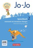 Jo-Jo Sprachbuch - Allgemeine Ausgabe - Neubearbeitung 2016. 2. Schuljahr - Arbeitsheft in Lateinischer Ausgangsschrift mit CD-ROM