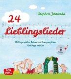 24 Lieblingslieder, Liederbuch, m. Audio-CD