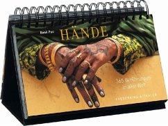 Tischaufsteller Hände