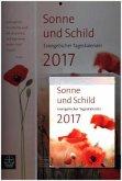 Sonne und Schild 2017 Abreißkalender mit Rückwand