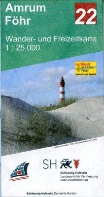 Wander- und Freizeitkarte Amrum - Föhr