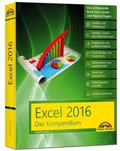 Excel 2016 - Das Kompendium - komplett in Farbe: das große Praxiswissen in einem Buch: Diagramme, Formeln und Funktionen, VBA, Grundlagen und vieles mehr - Schels, Ignatz