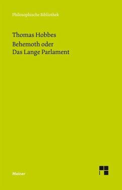 Behemoth oder Das Lange Parlament (eBook, PDF) - Hobbes, Thomas